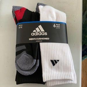 Adidas Men's Cushioned Aeroready Crew Socks 6pk
